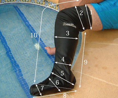 Waterproof leg cast cover above the knee