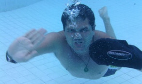Swimming underwater in our dry arm cast cover